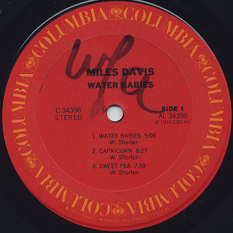 Miles Davis / Water Babies label