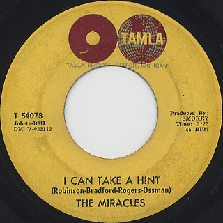 Miracles / A Love She Can Count On c/w I Can Take A Hint back
