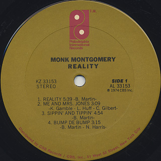 Monk Montgomery / Reality label