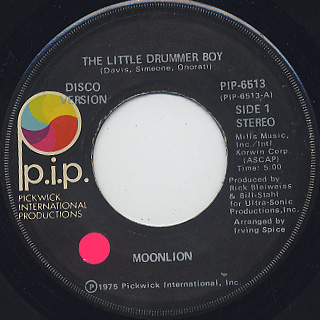 Moonlion / The Little Drummer Boy c/w Laid Back