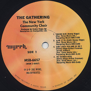 New York Community Choir / The Gathering label