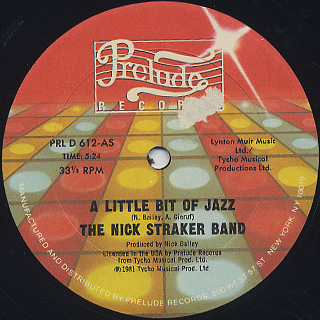 Nick Straker Band / A Little Bit Of Jazz front