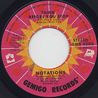 Notations / Think Before You Stop c/w I'm Losing