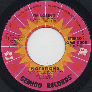 Notations / Think Before You Stop c/w I'm Losing back