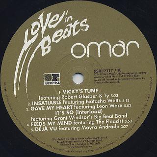 Omar / Love In Beats (LP) label