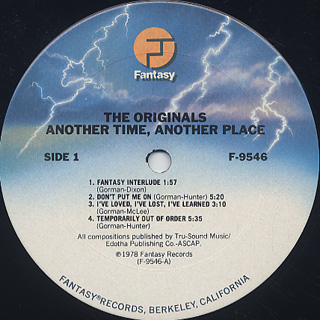 Originals / Another Time Another Place label