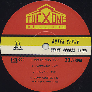Outer Space / Chase Across Orion label