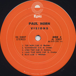 Paul Horn / Visions label