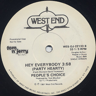 People's Choice / Hey Everybody back
