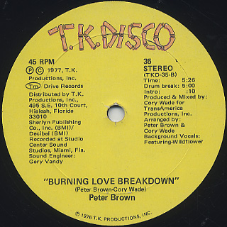 Peter Brown / Do Ya Wanna Get Funky With Me back