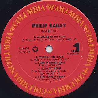 Philip Bailey / Inside Out label