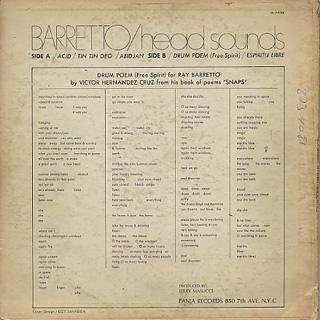 Ray Barretto / Head Sounds back
