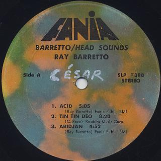 Ray Barretto / Head Sounds label
