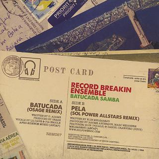 Record Breakin Ensemble / Batucada c/w Pela back