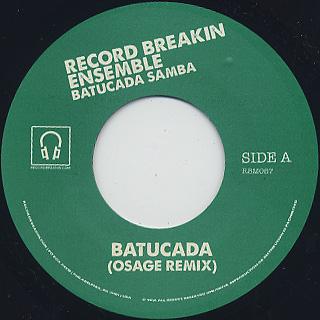 Record Breakin Ensemble / Batucada c/w Pela label