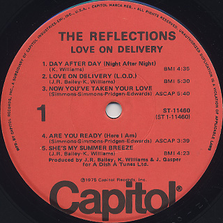 Reflections / Love On Delivery label