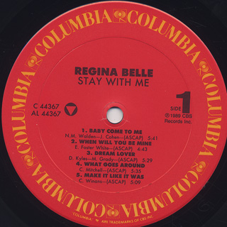 Regina Belle / Stay With Me label