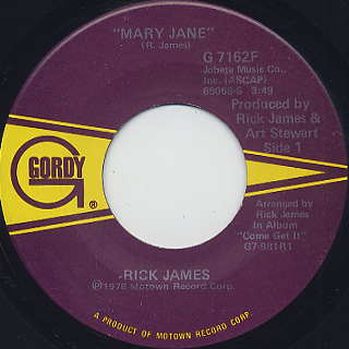 Rick James / Mary Jane (45) front