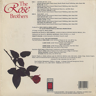 Rose Brothers / S.T. back