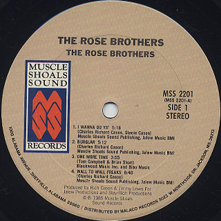 Rose Brothers / S.T. label