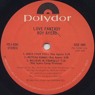 Roy Ayers / Love Fantasy label
