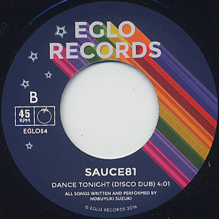 Sauce 81 / Dance Tonight back