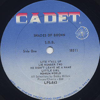 Shades Of Brown / S.O.B. label