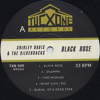 Shirley Davis & The Silverbacks / Black Rose label