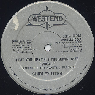 Shirley Lites / Heat You Up (Melt You Down)