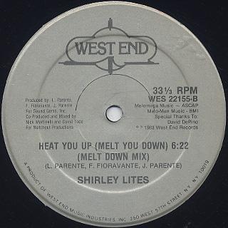 Shirley Lites / Heat You Up (Melt You Down) back