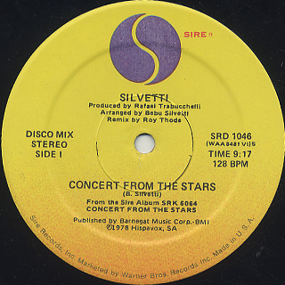 Silvetti / Concert From The Stars c/w Sun After The Rain