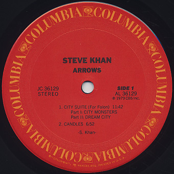 Steve Khan / Arrows label