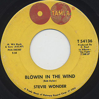 Stevie Wonder / Blowin' In The Wind c/w Ain't That Asking For Trouble