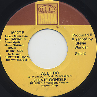 Stevie Wonder / That Girl c/w All I Do back