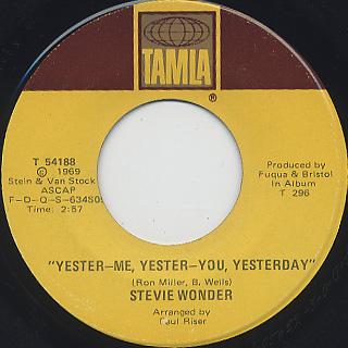 Stevie Wonder / Yester-Me, Yester-You, Yesterday