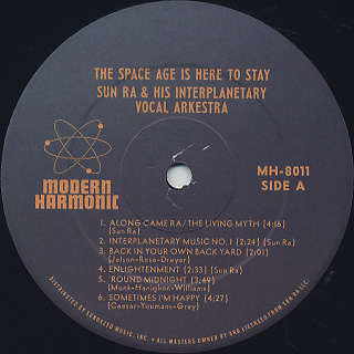Sun Ra / The Space Age Is Here To Stay label