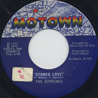 Supremes / Stoned Love front