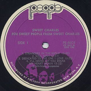 Sweet Charles / For Sweet People label
