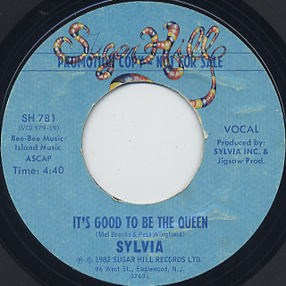 Sylvia / It's Good To Be The Queen back