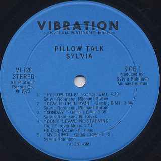 Sylvia / Pillow Talk label