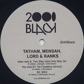 Tatham, Mensah, Lord & Ranks / Two Way Here One Way Go front
