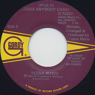 Teena Marie / Square Biz (45) back