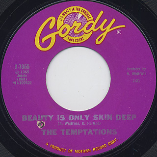 Temptations / Beauty Is Only Skin Deep c/w You're Not An Ordinary Girl