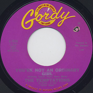 Temptations / Beauty Is Only Skin Deep c/w You're Not An Ordinary Girl back