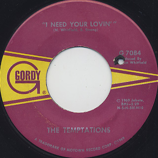 Temptations / Run Away Child, Running Wild back