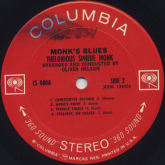 Thelonious Sphere Monk / Monk's Blue label