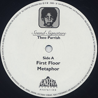 Theo Parrish / First Floor 1 (2LP) label