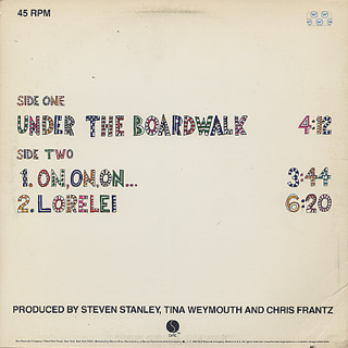 Tom Tom Club / Under The Boardwalk back