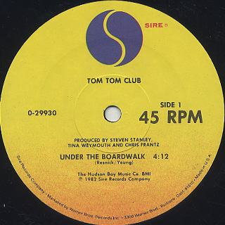 Tom Tom Club / Under The Boardwalk label