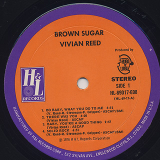 Vivian Reed / Brown Sugar label